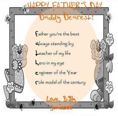 Father's Day Poems | Father's Day Poems From Daughter & Kids