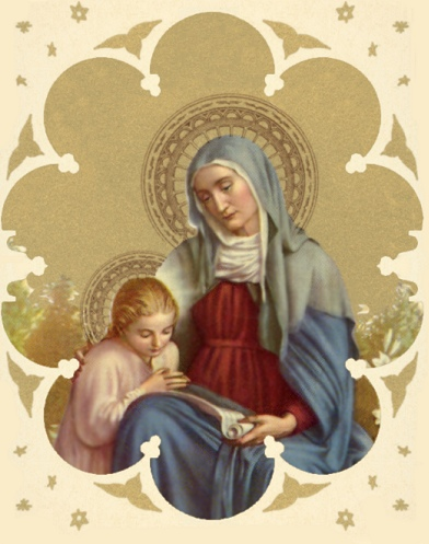 Our Lady with her mother